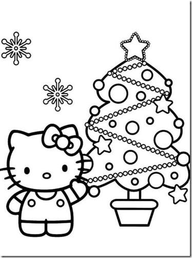 colorear hello kitty navidad (13)