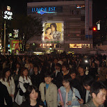 rush hour outside of Shinjuku Station East entrance in Shinjuku, Tokyo, Japan