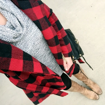 buffalo plaid coat, how to wear riding boots, mom style