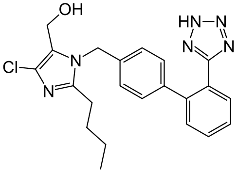 Structure Of Losartan