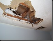 Water-Damaged-Ceiling-Looks like it is getting worse!