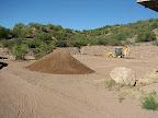 initial dirt pile