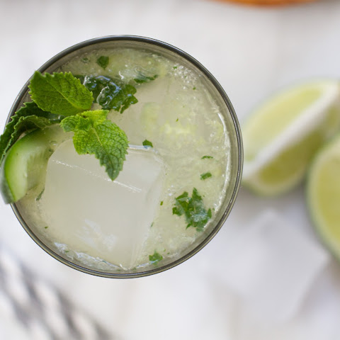 Cucumber and Ginger Mojito Cocktail
