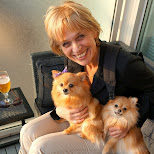 my mom with Lima & Ninja in Toronto, Ontario, Canada