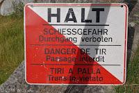 """Lukmanierpaß. Die Nordrampe in Richtung Disentis. Beim Abenteuer-Seilpark """"Alpventura"""". Öha! Aber Hallo!"""