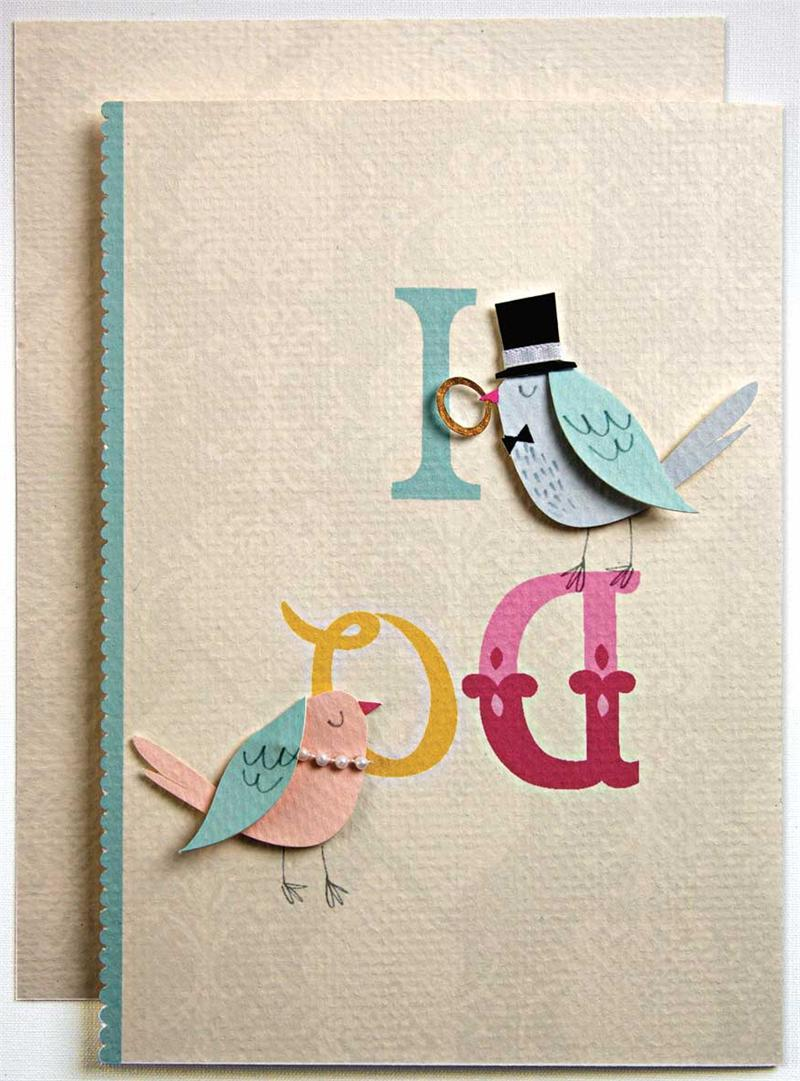 I Do Birds Wedding Card