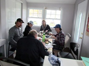 1510101 Oct 25 Harley Kerry Terri Mark At Diningroom Table