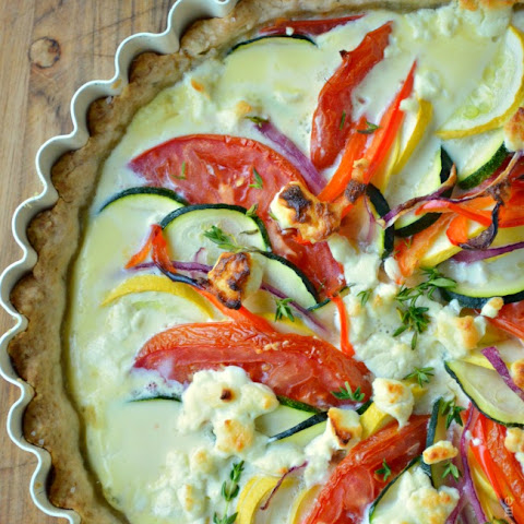 Easy Vegetable Tart with Lemon Herb Crust {and the importance of a sharp knife}