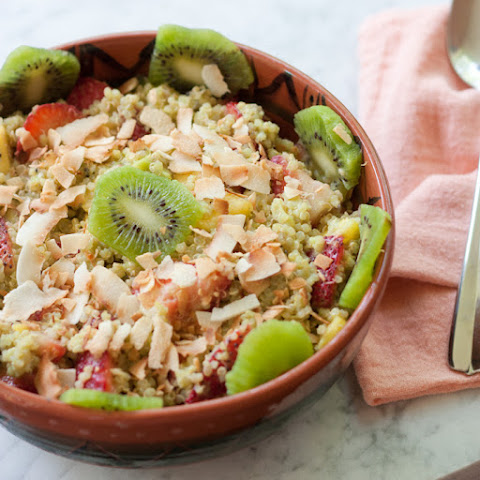 Quinoa Fruit Salad with Toasted Coconut Flakes