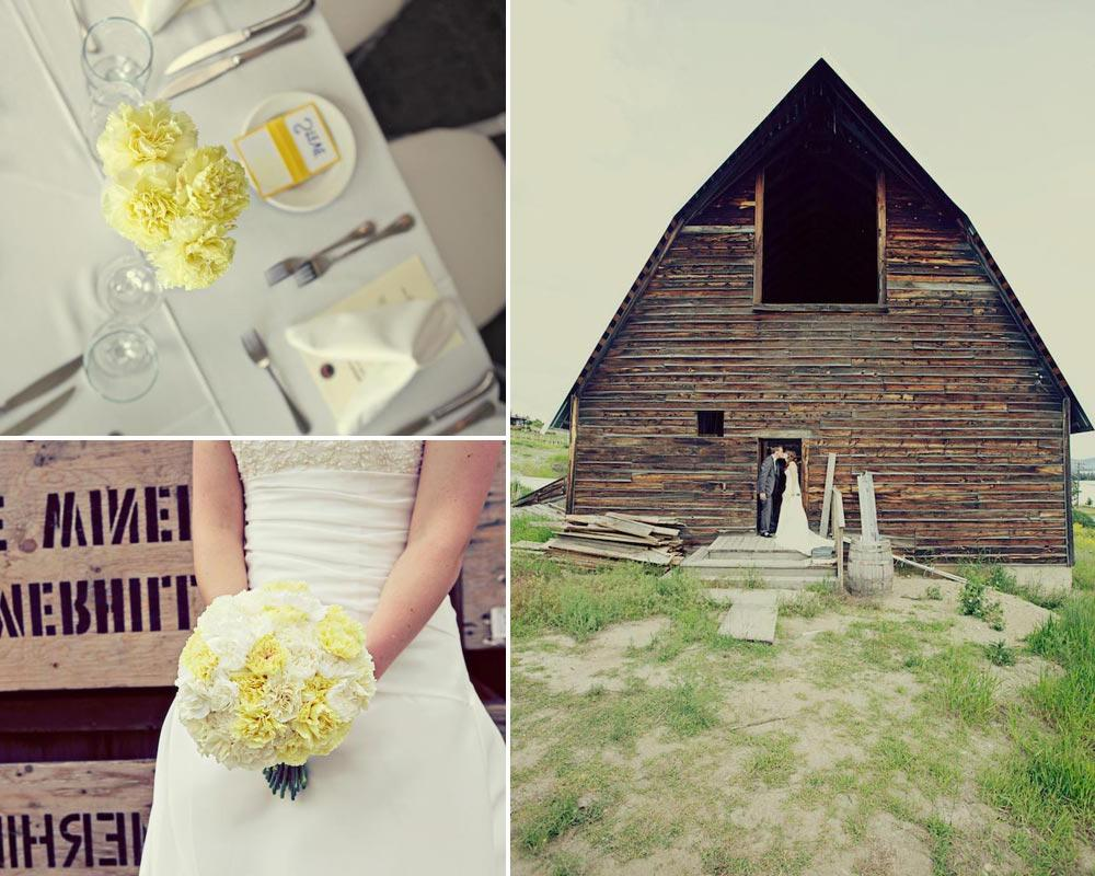 BC wedding with yellow