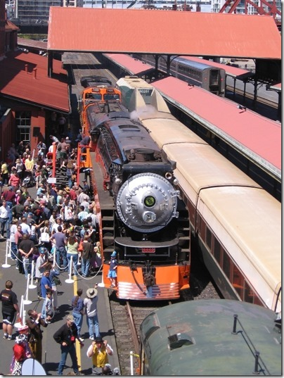 IMG_2780 Southern Pacific Daylight GS-4 4-8-4 #4449 at Union Station in Portland, Oregon on May 8, 2010