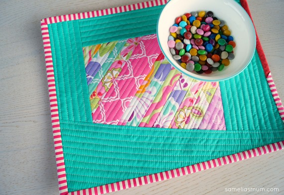 Scrappy Quilted Placemats