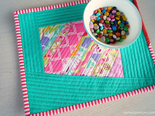 Wonky + Scrappy Quilted Placemat {Tutorial}