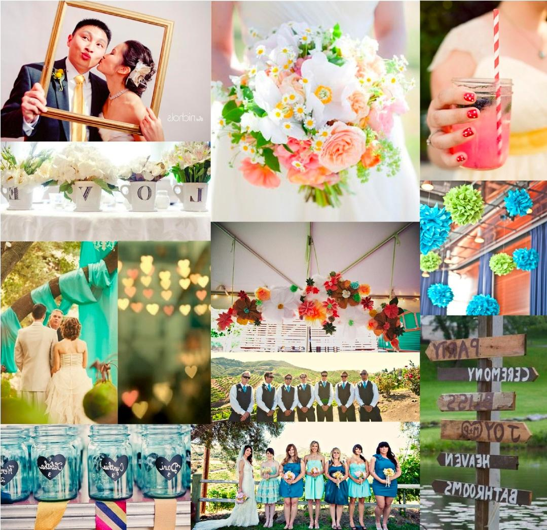 wedding color schemes features