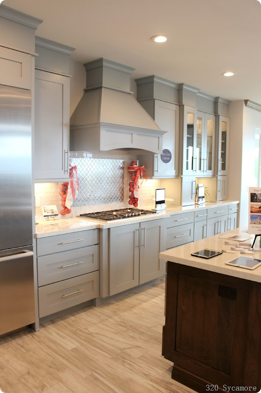 light gray cabinets