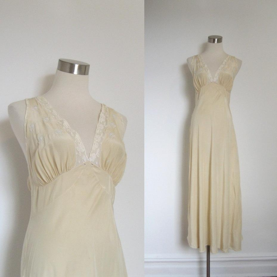 1950s Silk Nightgown   50s