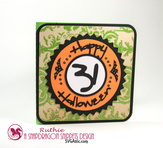 SnapDragon Snippets  - Halloween 31 Twisted Easel Card - Ruthie Lopez