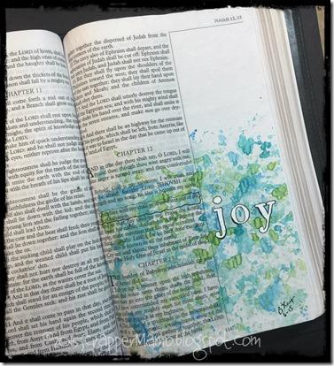 Bible Art Journaling Is 12-3 Joy
