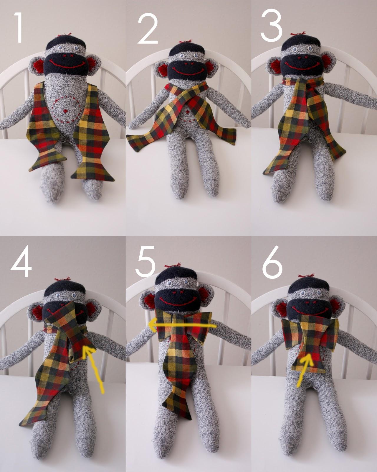 Игрушки из галстука своими руками
