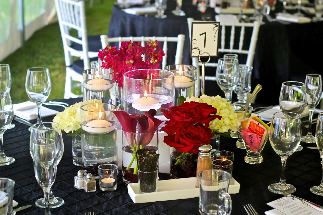 floating candle centerpieces