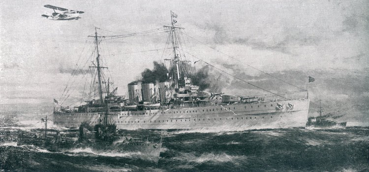 Oleo sobre el HMS BERWICK. De la revista The Shipbuilder. Año 1929.JPG