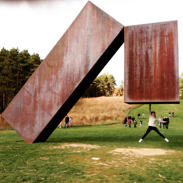 Suspended by Menashe Kadishman at Storm King Art Center