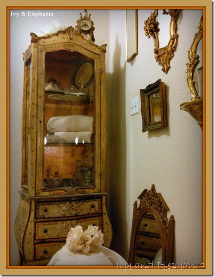 french inspired corner cabinet