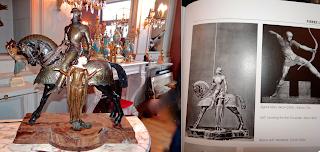 Бронзовая подписная скульптура 19-го века.