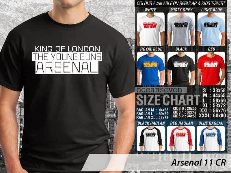 Kaos Bola Arsenal 10 Liga Premier Inggris distro ocean seven
