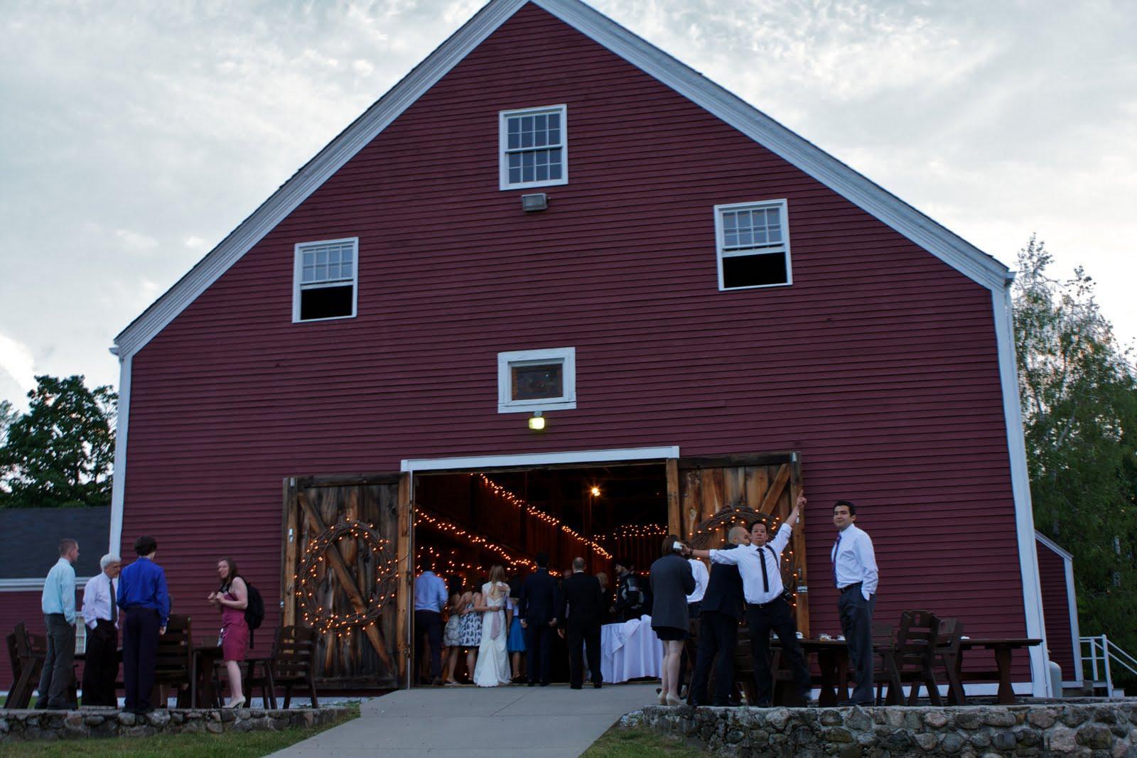 The wedding reception was
