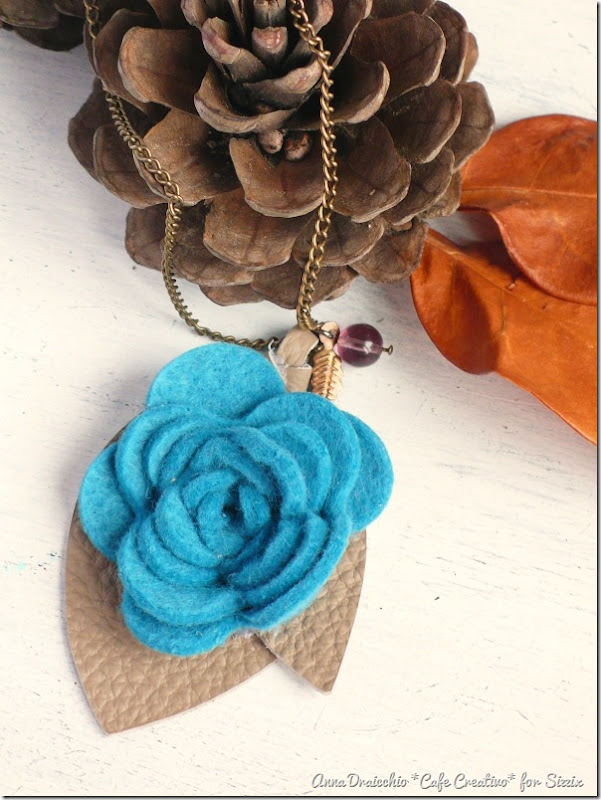 Felt Flower Pendant Necklace-rose die-sizzix big shot-by cafecreativo (2)