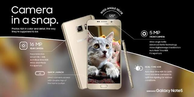 Samsung, Galaxy, Note Note 5, Terbaru.