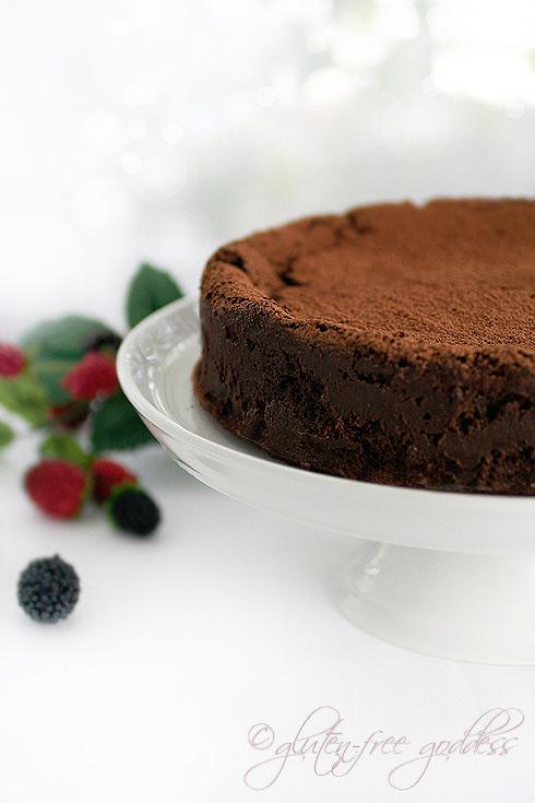 Chocolate truffle cake by Gluten Free Goddess Karina