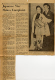 Newspaper interview with Tony Toyoda, 1960