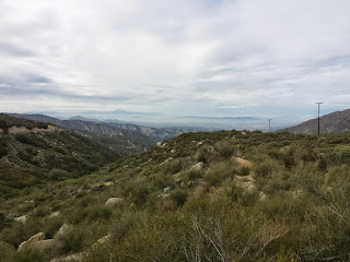 Didn't stop for lunch in Hemet Valley to avoid the building rain clouds.