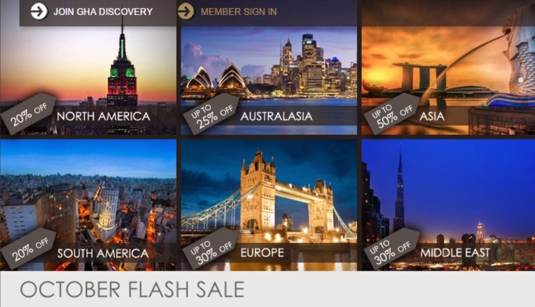 Anantara安纳塔拉、Marco Polo馬哥孛羅、AVANI hotels安凡妮9月份「Flash Sale」,全線酒店閃銷,低至5折,優惠至10月31日。