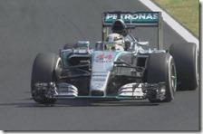 Hamilton nelle prove libere del gran premio d'Ungheria 2015