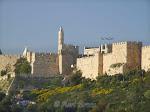 Jeruzalem - westelijke stadsmuur en Citadel
