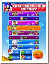 لعبة سونيك جمب Sonic Jump Fever للأندرويد - 2