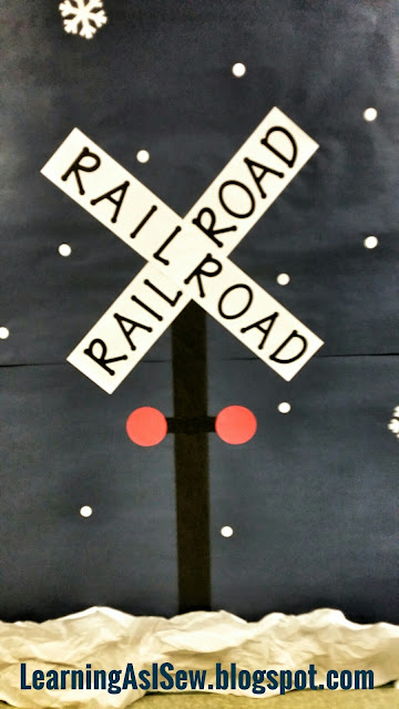 Polar Express Decor - railroad crossing