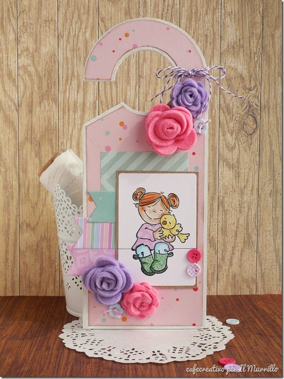tutorial door hanger - scrapbooking - stamping - big shot - by cafecreativo for il murrillo