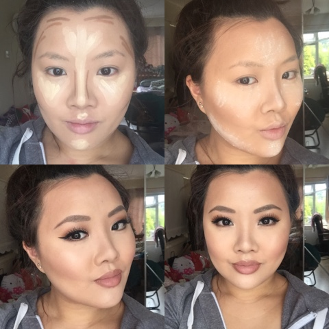 my highlight and contour routine feat smashbox mac and kevyn