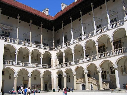Dziedziniec zamku na Wawelu