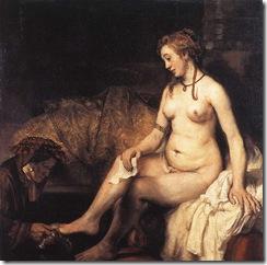 Betsabé en el baño-Rembrandt