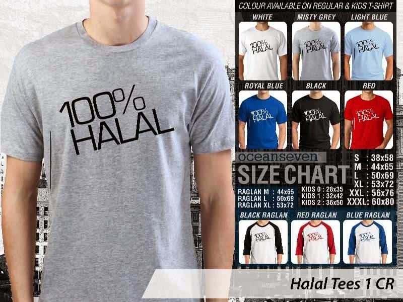 Kaos Muslim Gaul Halal Tees 1 100 Halal distro ocean seven
