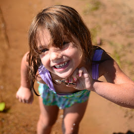The Discovery by Scott Thiel - Babies & Children Children Candids ( child, shells, shallow dof, golden lake, canada, 2014, summer, ontario, beach,  )