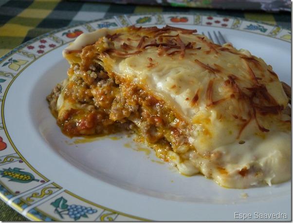 lasaña verduras carne espe saavedra