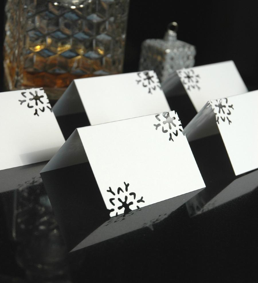 Snowflake Place cards Set 120