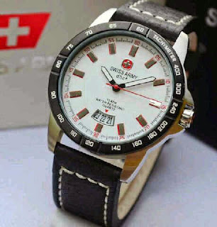 Jual Jam tangan Swiss Army SA2866 soft  leather silver white