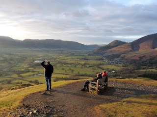 Looking from Latrigg summit